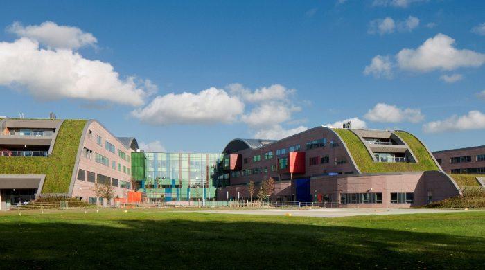Exterior view of the Modular Hospital Alder Hey