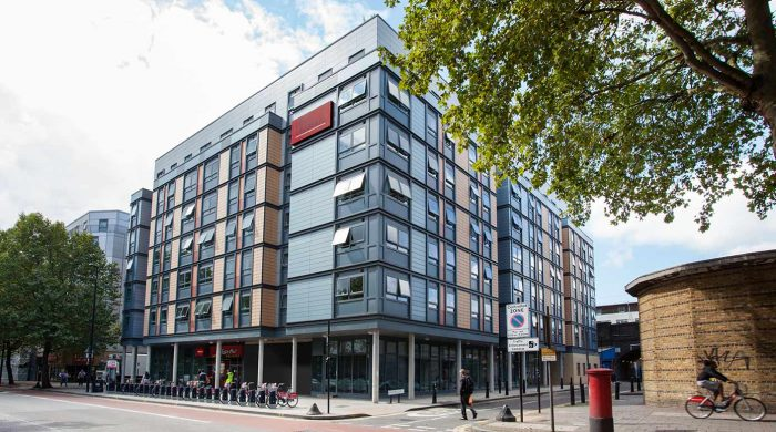 exterior view of Blithehale Court Modular Pods Fully Modular Building in London