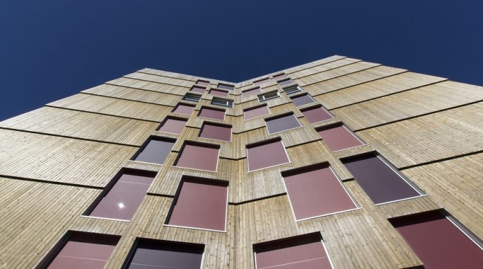 Cross laminated timber facade for Moholt 50/50